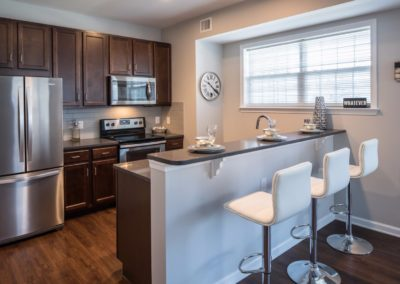 apartment kitchen at Jacksonville Station in Warminster, PA